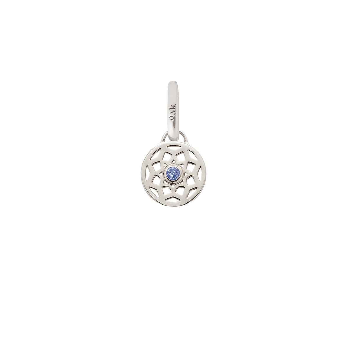 Sale, Birthstone Dreamcatcher Charm. September, Sapphire