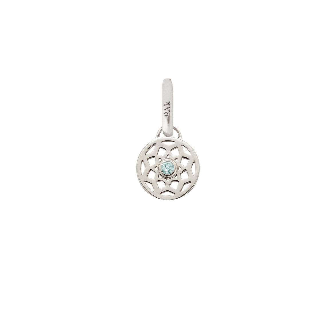 Sale, Birthstone Dreamcatcher Charm. December, Blue Topaz