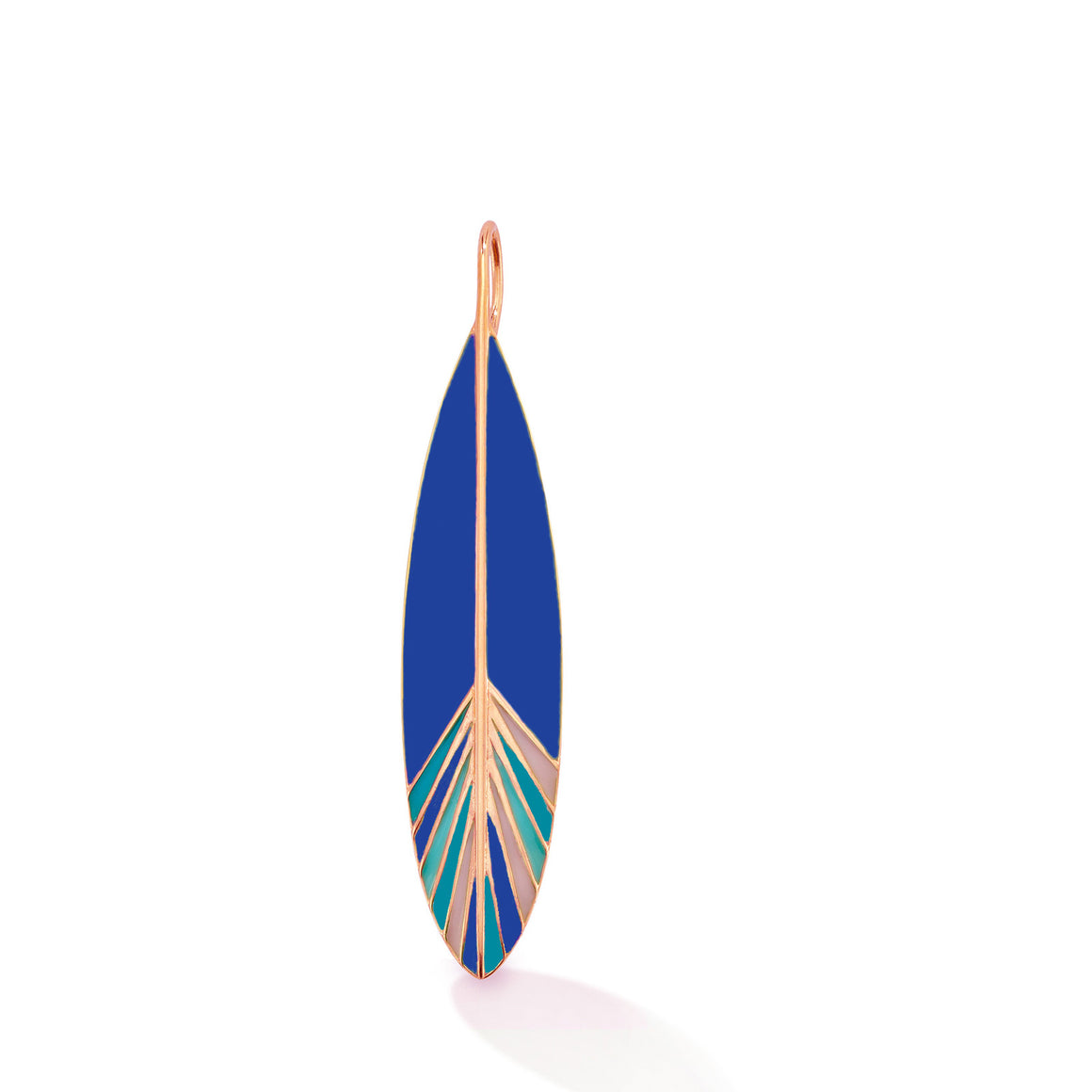 happiness enamel feather charm