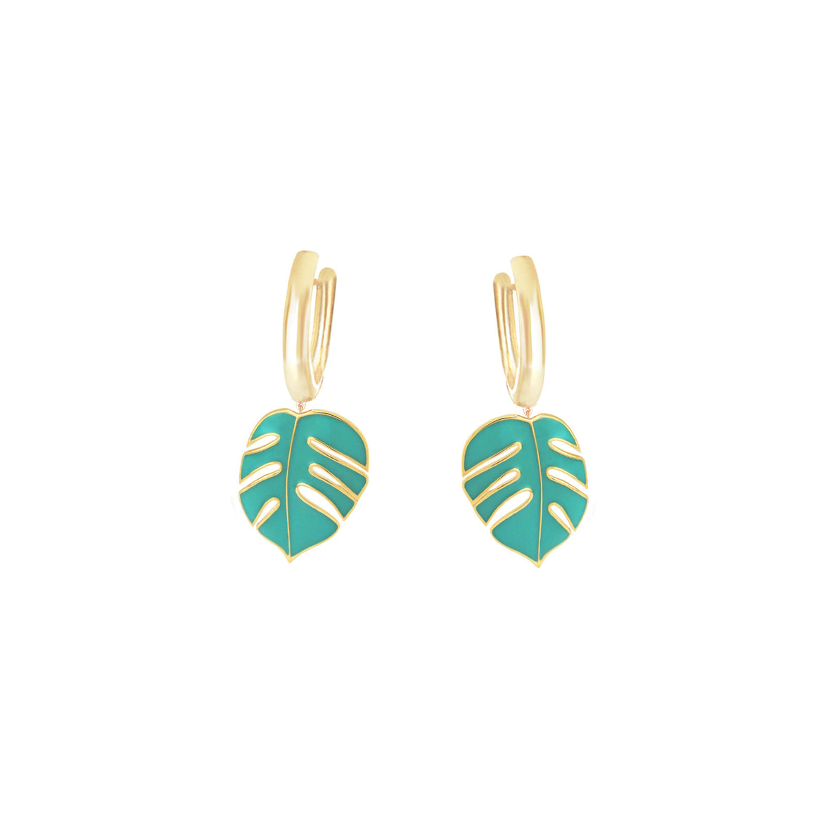 Monsoon Green Earrings by OAK Jewellery