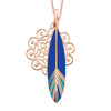 Floral Dreamcatcher + Colourful Feather Short Necklace, Rose, Sale