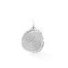 Tree Slice Necklace Charm, Silver