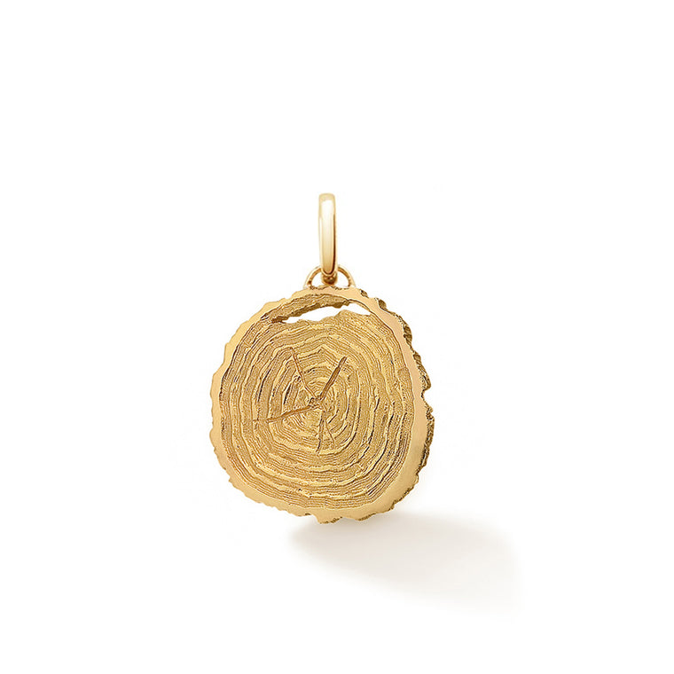 If Trees Could Talk oak slice pendant by OAK Jewellery