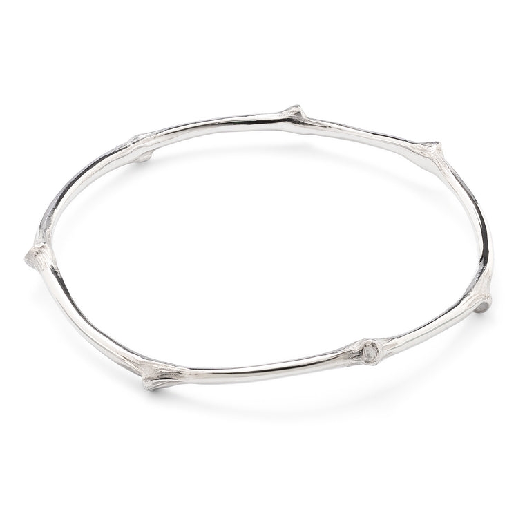 Sterling Silver branch bangle by OAK Jewellery