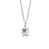 Sale, L is for Love Pink Rhodolite Necklace, Silver