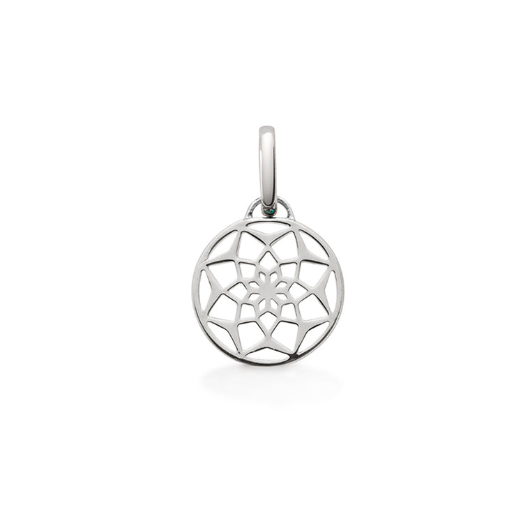Sterling silver dreamcatcher pendant charm by OAK Jewellery