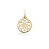 Necklace charm, dreamcatcher motif in Silver with 18ct Yellow gold vermeil by OAK Jewellery