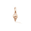 Rose gold shell of love charm