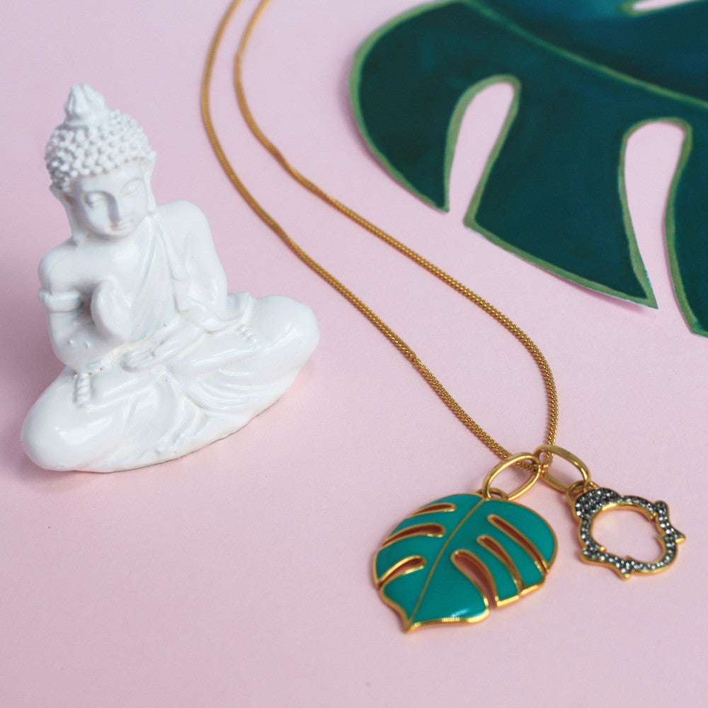 Just Chillin' Buddha Necklace, Long
