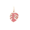 Mini Monsoon Pink Palm Leaf Charm by OAK Jewellery
