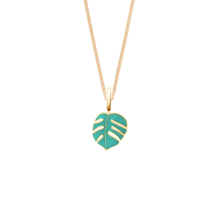 Mini Monsoon White Palm Necklace by OAK Jewellery
