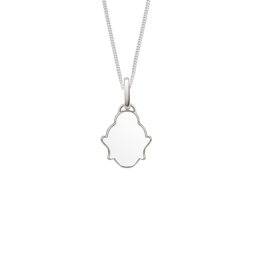 White Buddha Necklace by OAK Jewellery