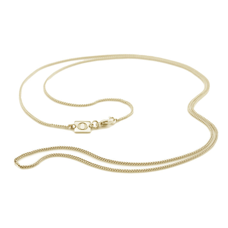 34 Inch Long Curb Chain, Yellow Gold