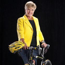 Mayor Price and her Bicylce
