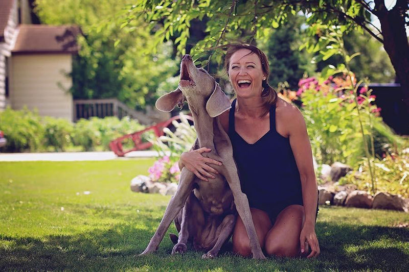 Erin Klegstad and her dog