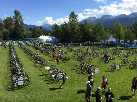 Ironman Canada Transition area