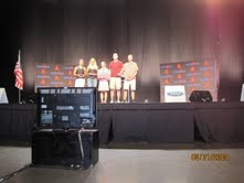 Podium for Ironman Louisville