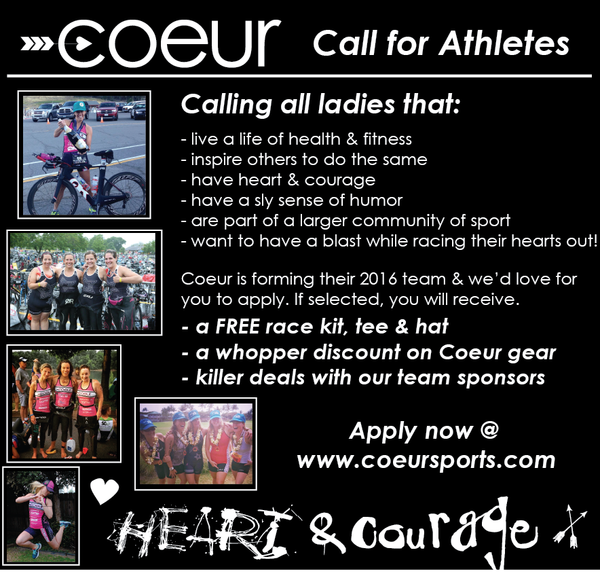 Coeur Sports Call for Athletes