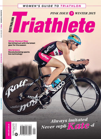 Kate on cover of Triathlete Magazine