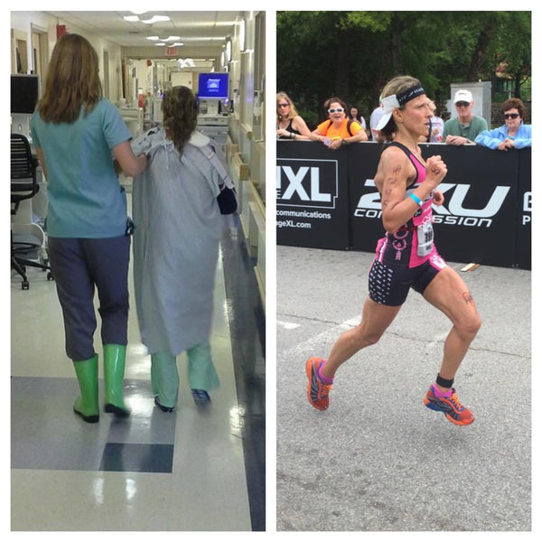 Athlete in Hospital and Running