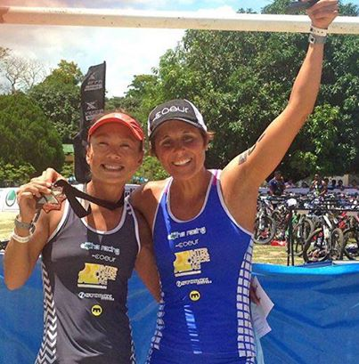 Two Professional Triathletes