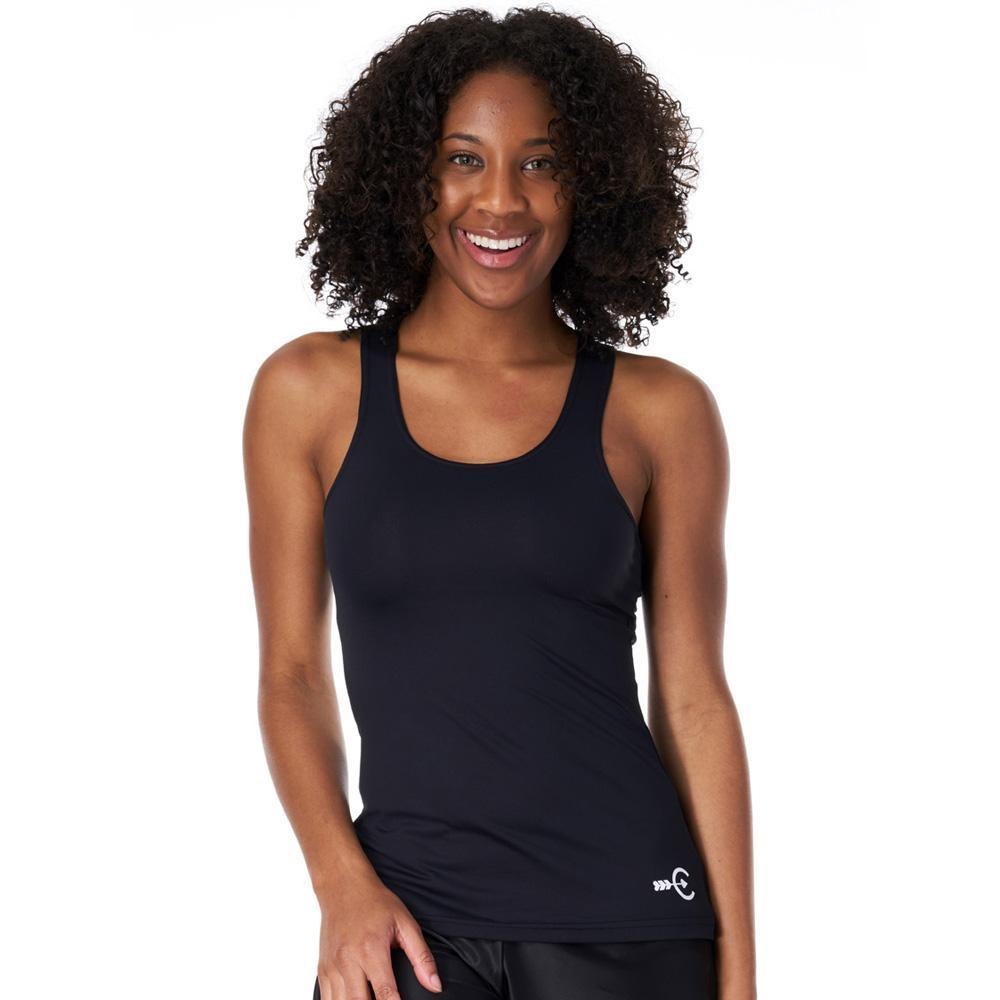 Coeur Run Tank x-small / Black Black Women's Running Tank Top