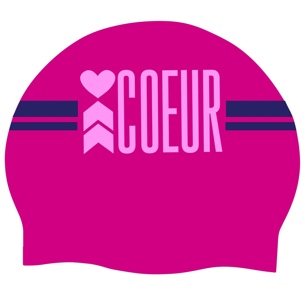 Coeur Sports Accessories One Size / Purple Purple Coeur Logo Silicon Swim Cap