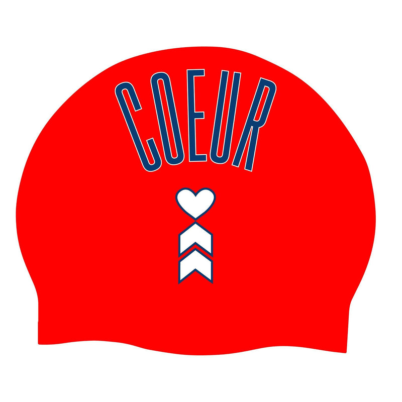 Coeur Sports Accessories One Size / Red Red Coeur Logo Silicon Swim Cap