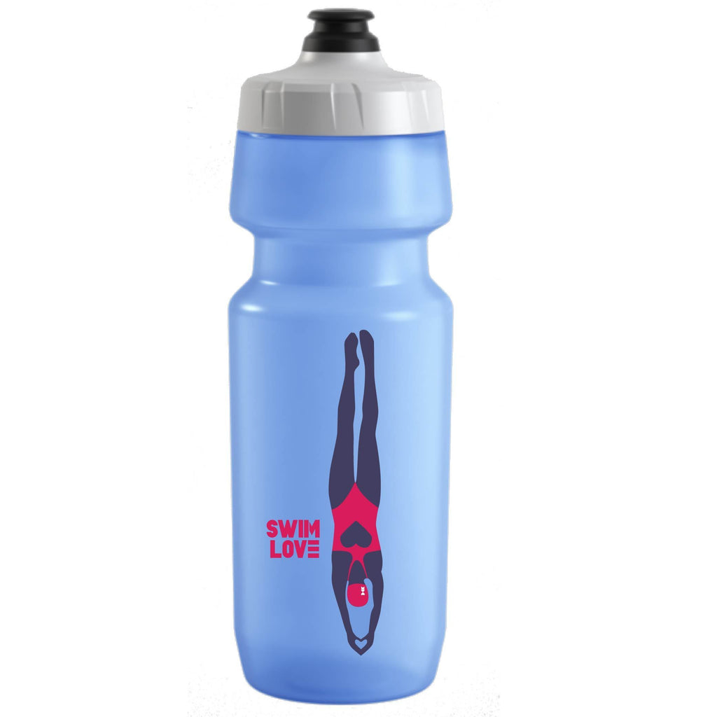 Coeur Sports accessory Blue Swim Love water Bottle