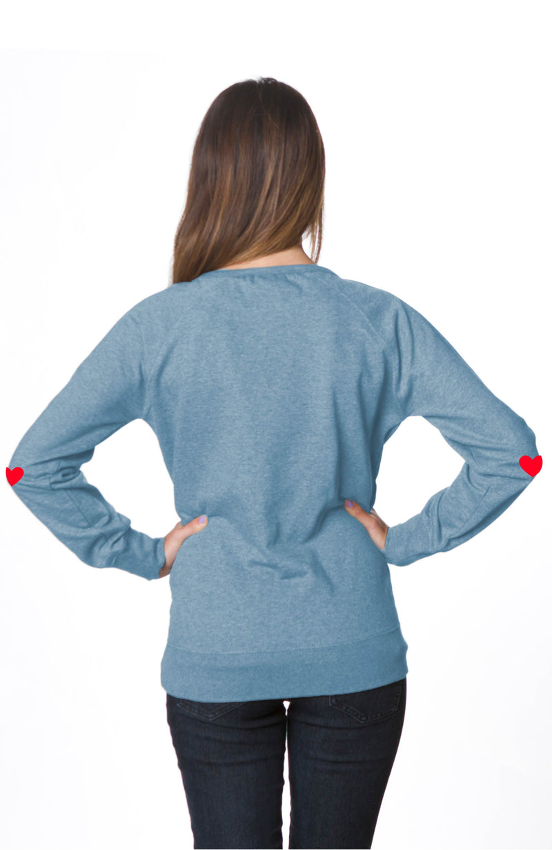 Coeur Sports accessory Heart On Sleeve Sweatshirt - Blue