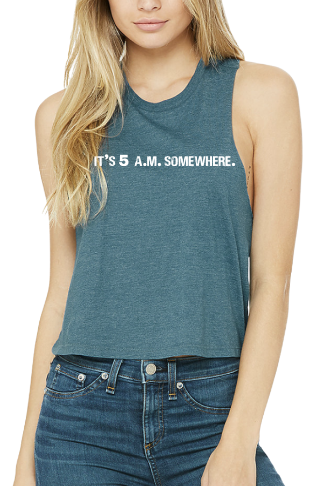 Coeur Sports accessory It's 5 A.M. Somewhere Crop Tank
