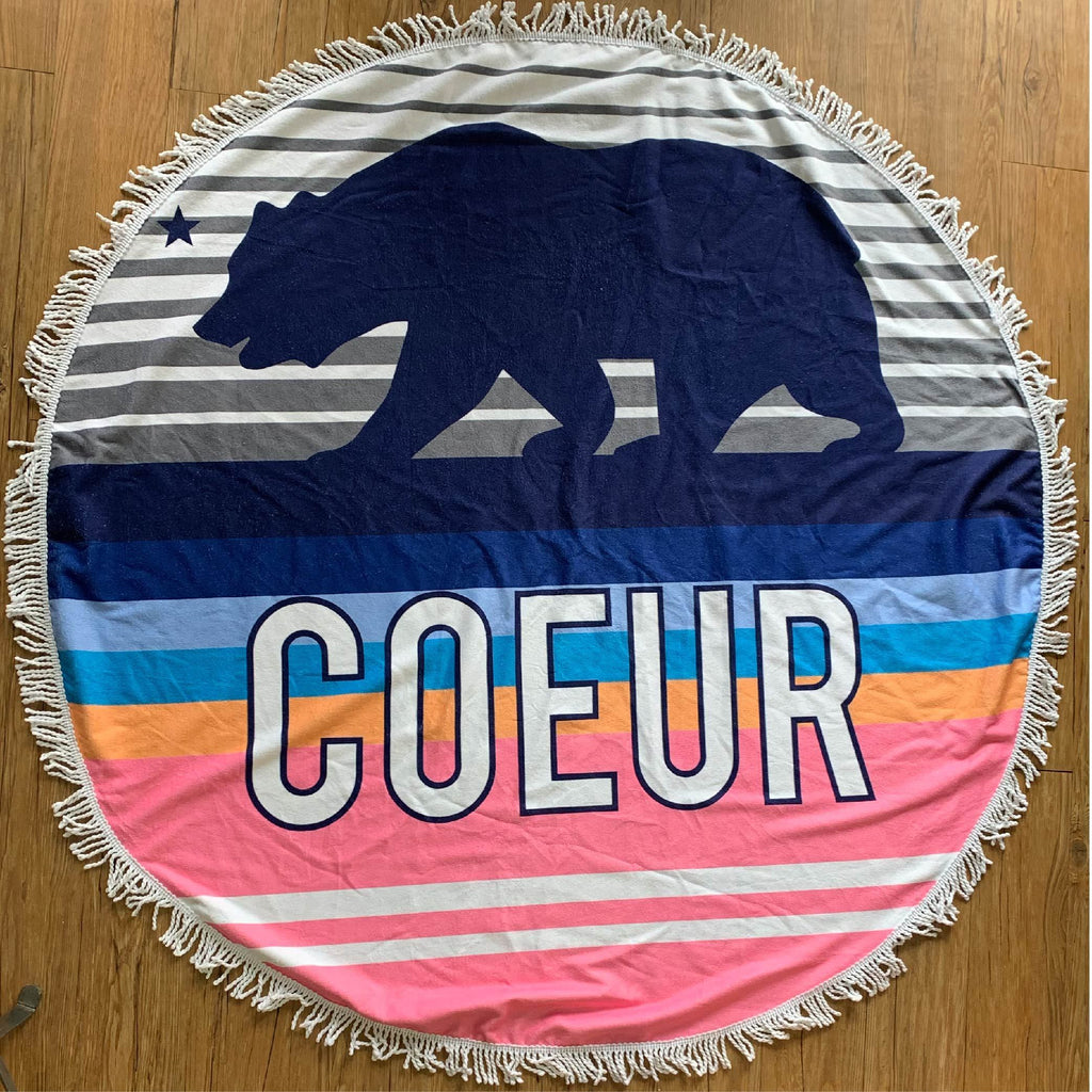 Coeur Sports accessory Multicolor Coeur Round Towel