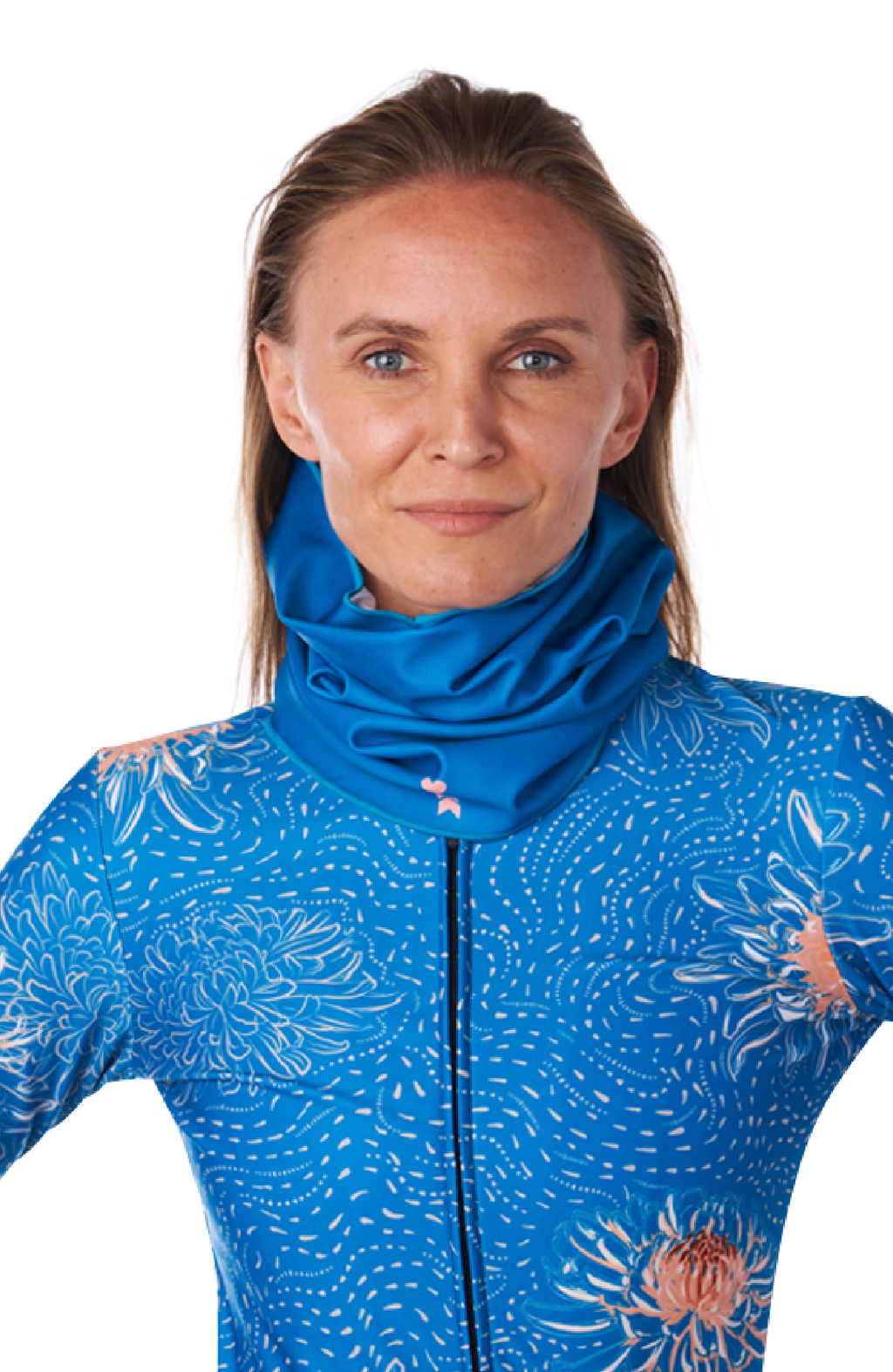 Coeur Sports accessory One Size / Blue Peony Thermal Neck Gaiter