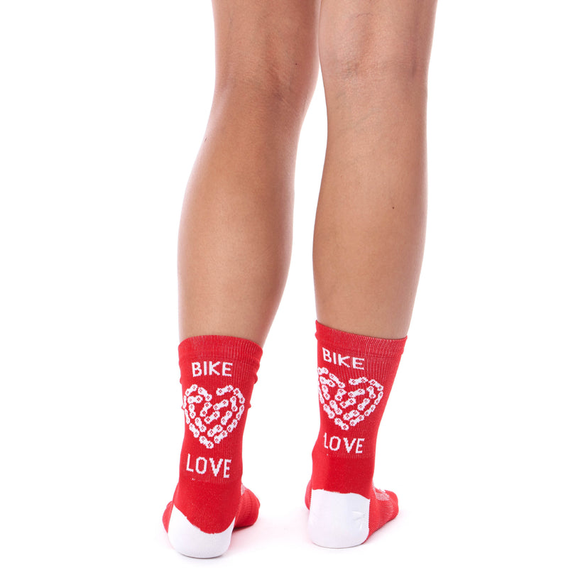 Coeur Sports accessory One Size / Red Bike Love Cycling & Run Socks - Red