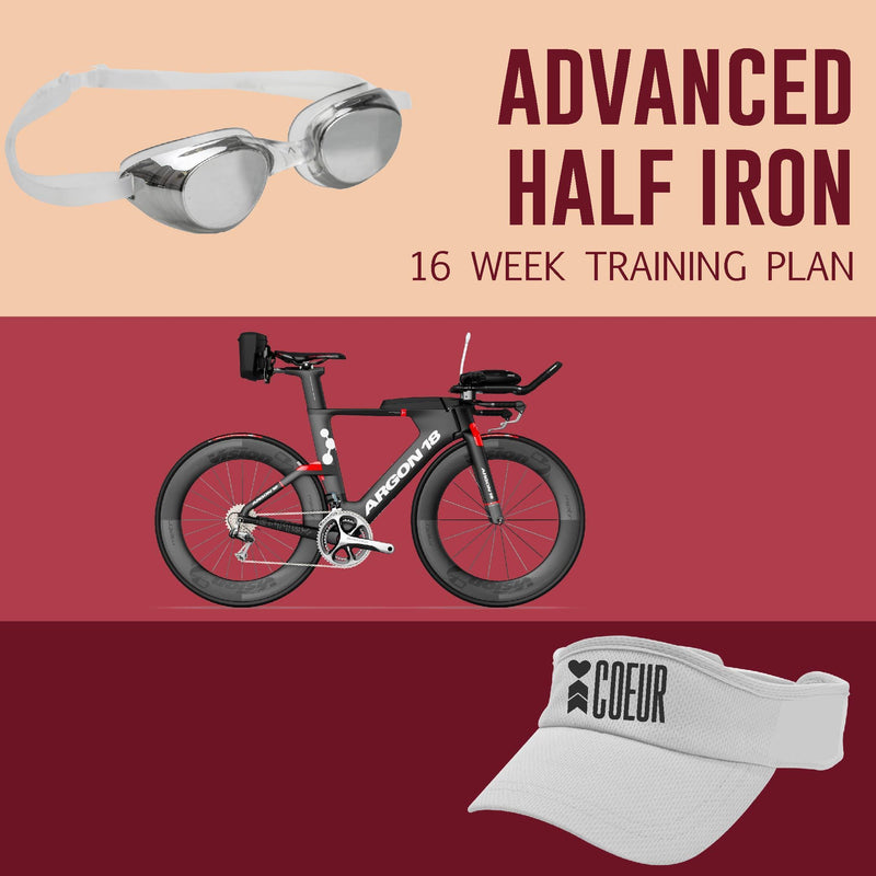 Coeur Sports ADVANCED Women's 16 week Half Iron Distance Triathlon Training Plan