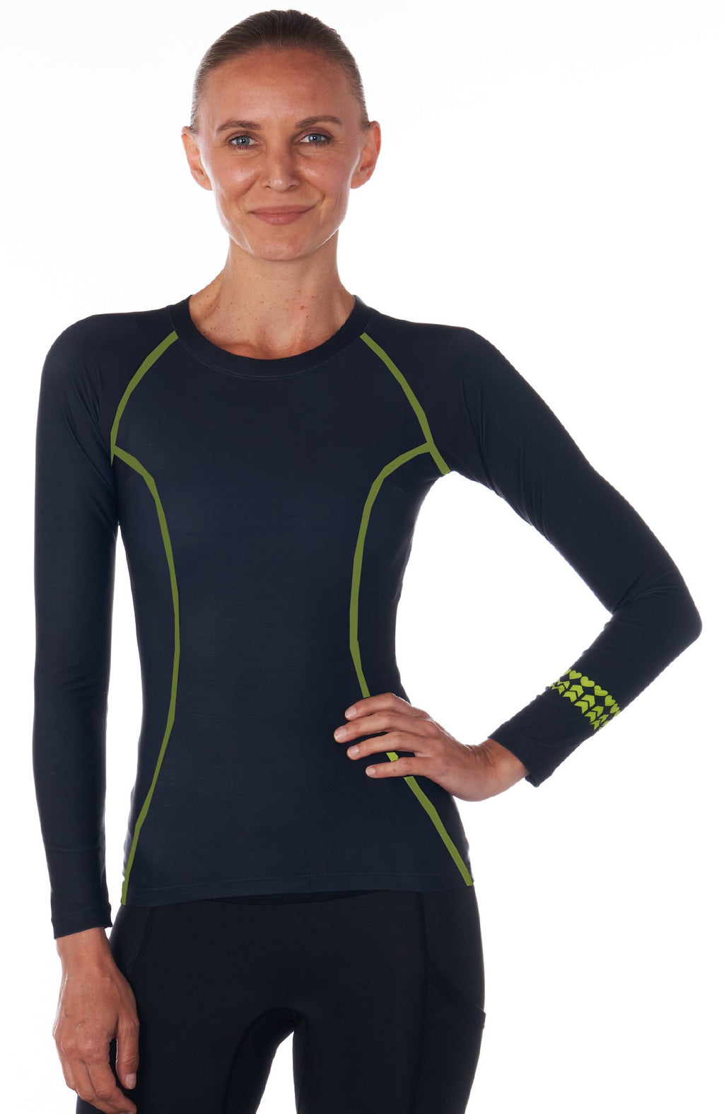 Women's Base Layer in Black for cycling & running