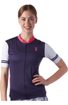 Cycling Jersey for Women with Palm Print Design