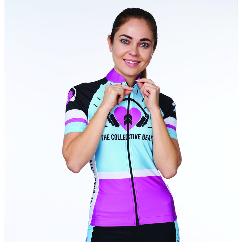 Coeur Sports Cycling Jersey XS / Blue/Purple PRESALE! Women's Cycling Jersey in Collective Beat 19 - Late July 2019 Shipment