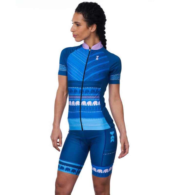 Coeur Sports Cycling Jersey XS / Blue Tusk Women's Cycling Jersey