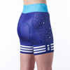women's cycling shorts in a design called 5:00 a.m. rear view