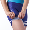 leg gripper on women's cycling shorts in a design called 5:00 a.m.