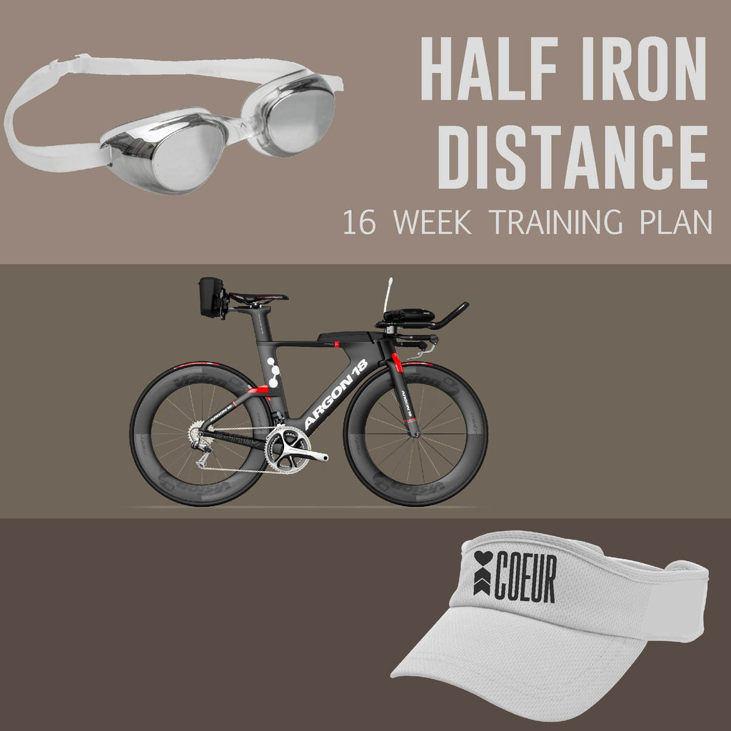 Coeur Sports Half Iron Distance Triathlon Training Plan: Women's 16 week