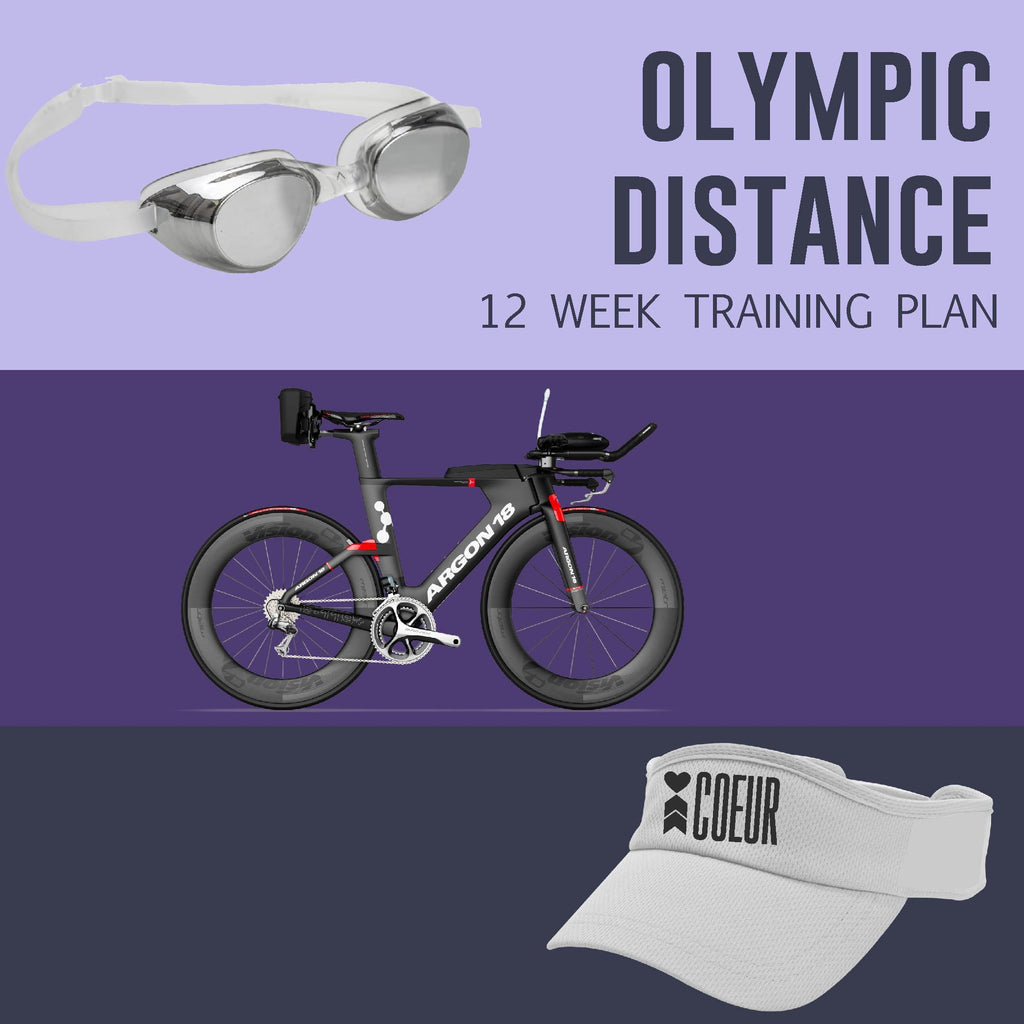 Coeur Sports Olympic Distance Triathlon Training Plan: Women's 12 Weeks