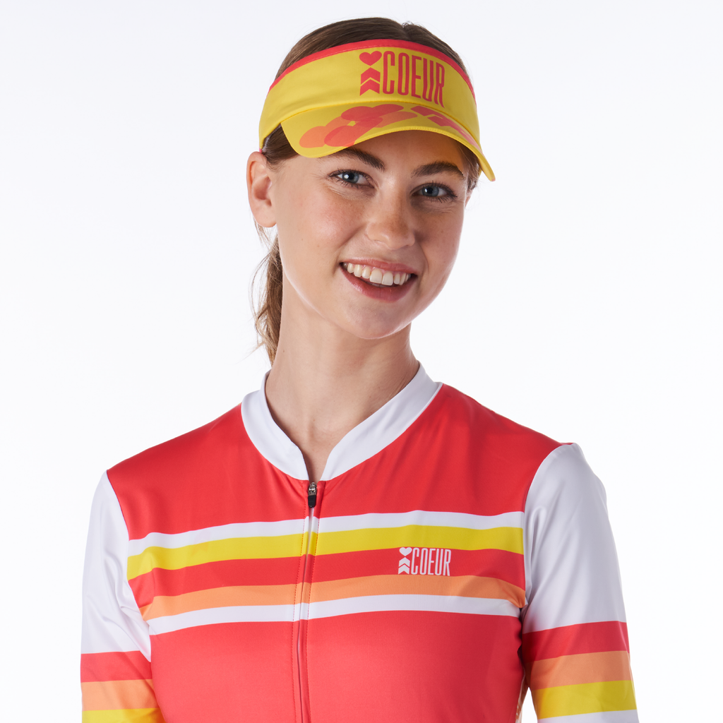 Coeur Sports OS Citrus Heart and Courage Visor