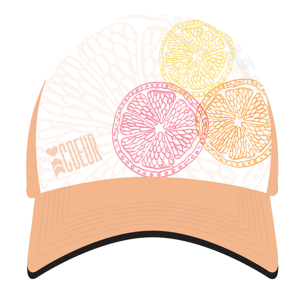 Citrus colored trucker hat