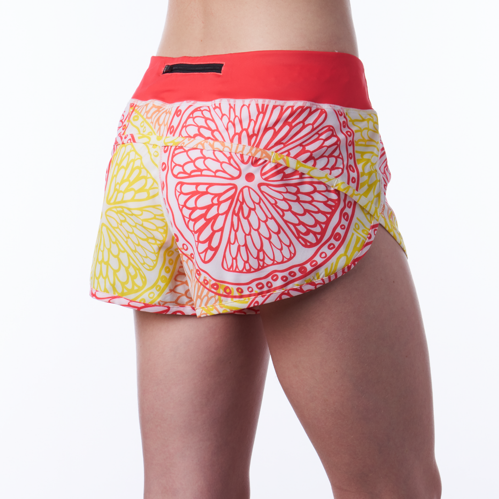 Coeur Sports Run Short Citrus Women's Running Shorts