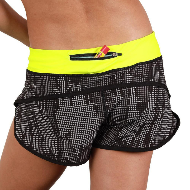 Coeur Sports Run Short Matrix Women's Running Shorts