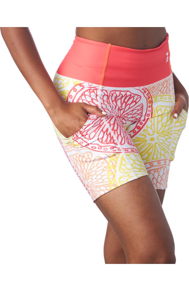 Coeur Sports Running Shorts Citrus Fitted Run Shorts