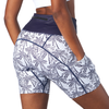 Coeur Sports Running Shorts Palm Print Fitted Run Shorts