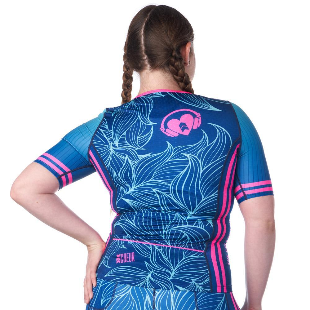 Coeur Sports Sleeved Triathlon Speed Jersey Collective Beat 20 Women's Sleeved Triathlon Aero Top - Ships late December 19
